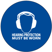 "Sound Activated Sign: CR201 Sound Sign Master Unit with ""Hearing Protection Must Be Worn"""