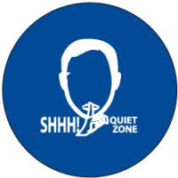 "Sound Activated Sign: CR201 Sound Sign Master Unit with ""SHH! Quiet Zone"""