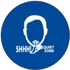 """Sound Activated Sign: CR201 Sound Sign Master Unit with """"SHH! Quiet Zone"""""""