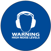 "Sound Activated Sign: CR201 Sound Sign Master Unit with ""Warning High Noise Levels"""