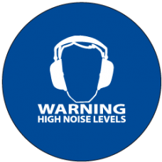 """Sound Activated Sign: CR201 Sound Sign Master Unit with """"Warning High Noise Levels"""""""